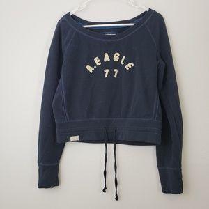 AEO Scoop Neck Crop Sweater